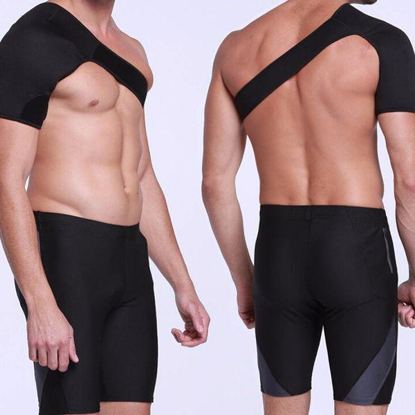 Shoulder Support Brace Back Guard Strap Wrap Belt Band Pads Single Shoulder Adjustable Breathable Sports Care Guard Protect bl