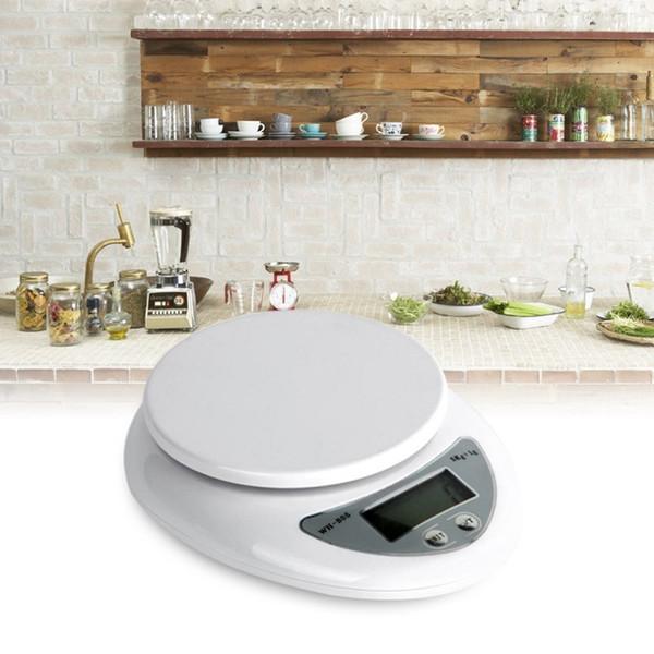 Báscula de bolsillo digital portátil Pantalla LED Cocina electrónica Alimentación Balanza de dieta Balanza balanza pesaje Escala 5kg / 1g Alta precisión