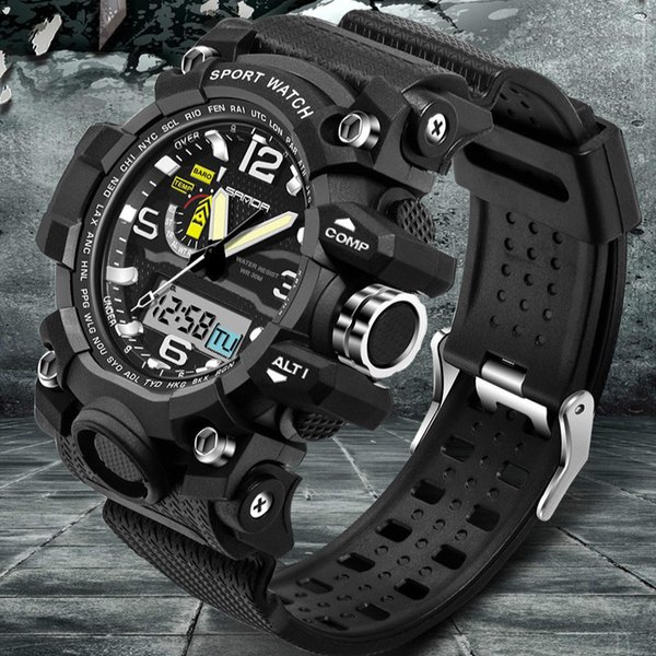 SANDA Hot Sell Analog Quartz Digital Watch Men Fashion G Style Sport Watches Waterproof Wristwatches for Men relogio masculino