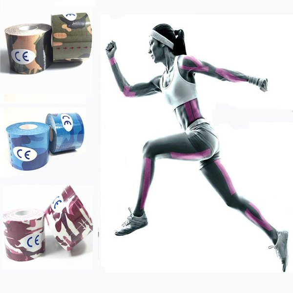 2.5 cm * 5 m camuffamento fascia elastica camouflage adesivo kinesiologia nastri sport recupero muscolare ceppo protezione nastro