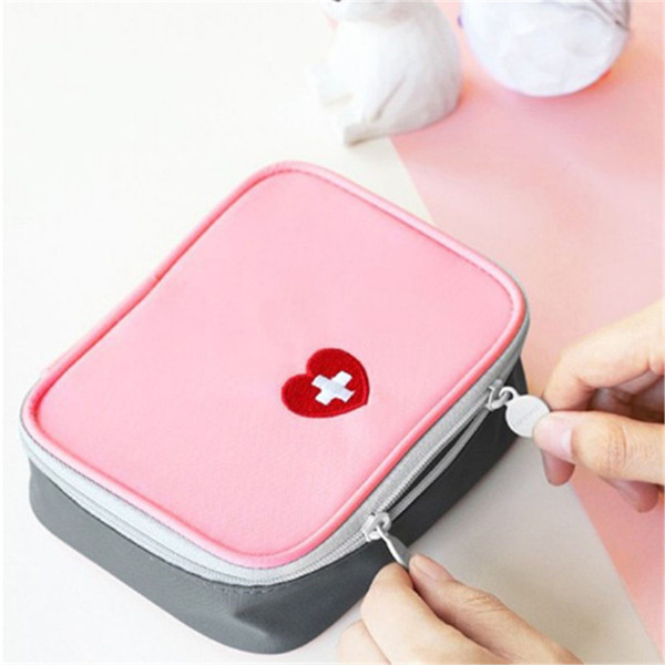 Mini Outdoor First Aid Kit Bag Travel Portable Medicine Package Emergency Kit Bags Medicine Storage Bag Small Organizer 20pcs