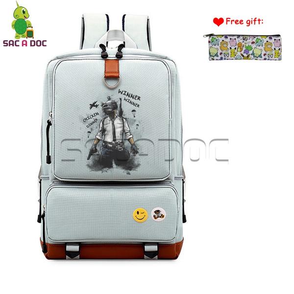 Hot Game Winner Winner Chicken Dinner Canvas Backpack Women Men Daily Bags Laptop Backpack Boys Girls Travel Bags Case Gift