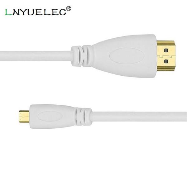 350pcs / lot yüksek hızlı mikro hdmi (tip d) hdmi (tip a) kablo- 24k altın konektörler - ideal hd cihazlar bağlamak için yeni micro kullanarak