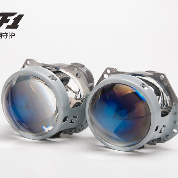 AES F1 Bi-xenon Projector Lens 2PCS LRH/RHD LED&HID H4 H7 Bulb Blue Lens HID Projector For Headlight Accessories