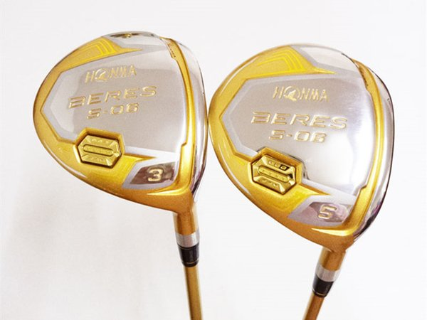 Brand New 4 Star Honma S-06 Fairway Woods Honma S06 Golf Fairway Woods Golf Clubs #3/#5 R/S Shaft With Cover