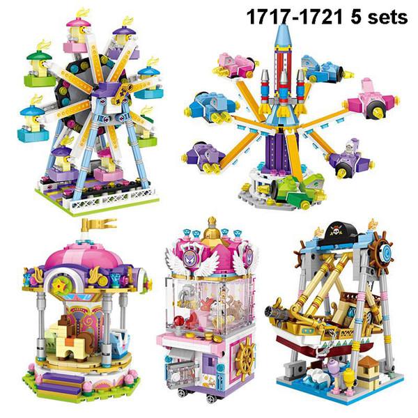 LOZ Mini Blocks Amusement Park Series Playground Friend Christmas Toy for Children Bricks Building Block DIY 1717-1721