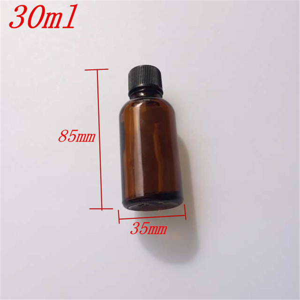 30ml Amber Glass Bottles with Leakproof Stopper Cap Liquid Jars Essential Oil Bottle 24pcs