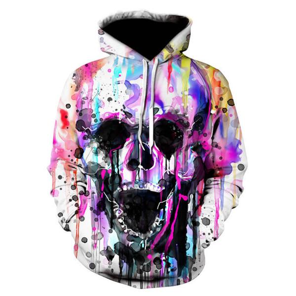 anime sweat à capuche Printemps Automne Skull headr sweats à capuche imprimés 3D Funny Hip HOP Hoodies S-6XL