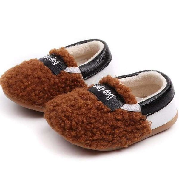 winter Kids Fashion Snow Boots Warm Baby Girls Shoes Flat With Round Toe Cotton ThickShoes For Children