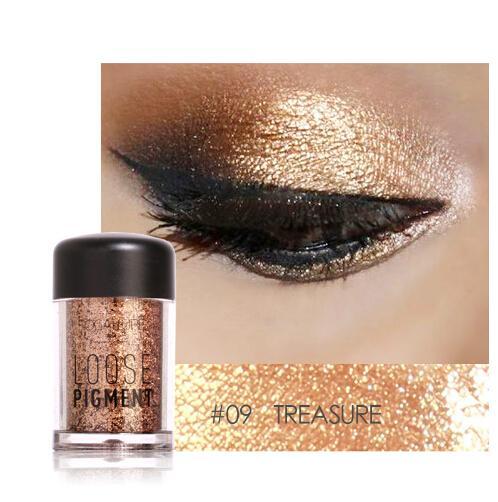 Hohe Qualität Glitter Lidschatten Pulver Wasserdicht Lose Schimmer Lidschatten Pigment 3D Nude Metallic Lidschatten Make-Up Kosmetik
