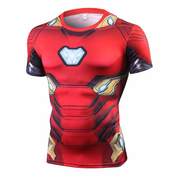 Raglan Sleeve Compression Shirts 3 Iron Man 3D Printed T shirts Men 2018 Summer NEW Crossfit Top For Male Fitness Cloth