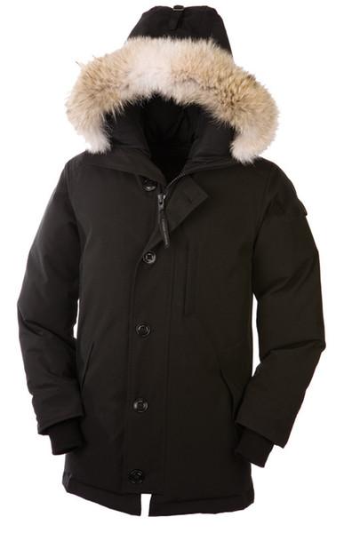 2018 homens canadenses novos homens castelo para baixo jaqueta parkas moletom com capuz preto cinza casaco de inverno casaco / parka com frete grátis tomada