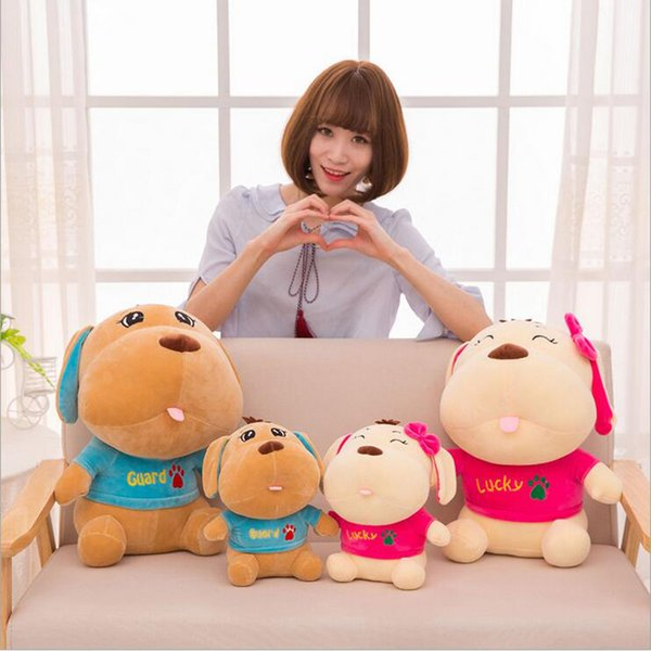 New Style Cute Lovers Dog Short Plush Toy Stuffed Animal Dogs Plush Doll Best Gift for Children