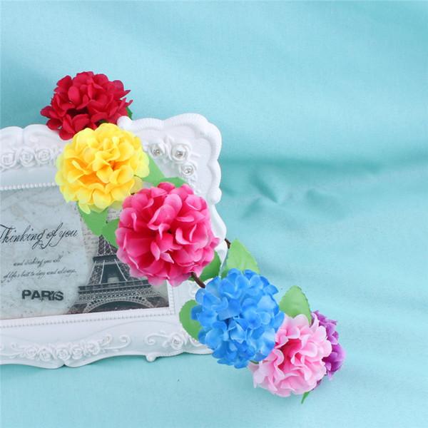 silk flower wreath hair garland for bride bridesmaid wed decoration white red blue flower wed garland