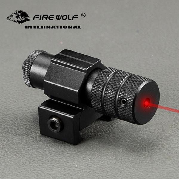 Taktische Mini Roter Punkt-laser-anblick-bereich Weaver Picatinny Halterung für Gewehrgewehr Pistole Schuss Airsoft Zielfernrohr Jagd