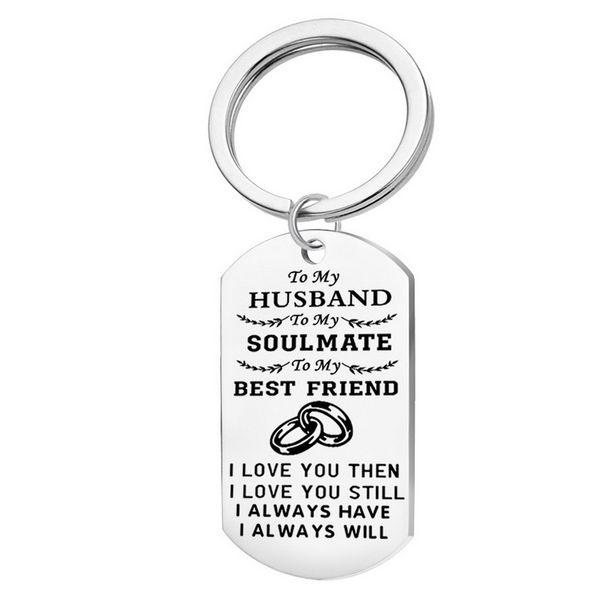 to my husband keychain
