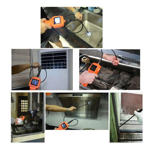"best selling KKmoon Waterproof Endoscope Inspection Camera 3MP With 2.4"" Screen DVR Video Recorder 9mm Diameter 1 Meters Tube Borescope Zoom"