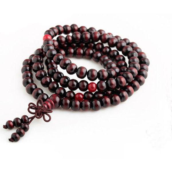 Natural 108*6mm Sandalwood Buddhist Buddha Meditation Beads Bracelets for Women Men Jewelry Prayer Bead Mala Rosary Bracelet