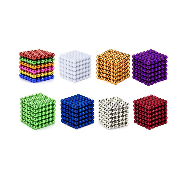 1 set 5mm 216 pcs Creative neodymium magnet magnets imanes Magic Strong NdFeB colorful buck ball Fun toys For Adult Kids