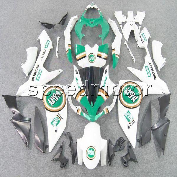 цвета+подарки инъекции пресс-формы ABS повезло зеленый белый обтекатель для Yamaha YZFR1 2007 2008 YZF-R1 07 08 YZF R1 послепродажного кузова пластиковый комплект