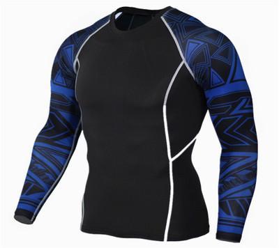 Compression Chemises Hommes 3D Teen Wolf Maillots À Manches Longues T Shirt Fitness Hommes Lycra MMA Crossfit T-Shirts Collants Marque Vêtements