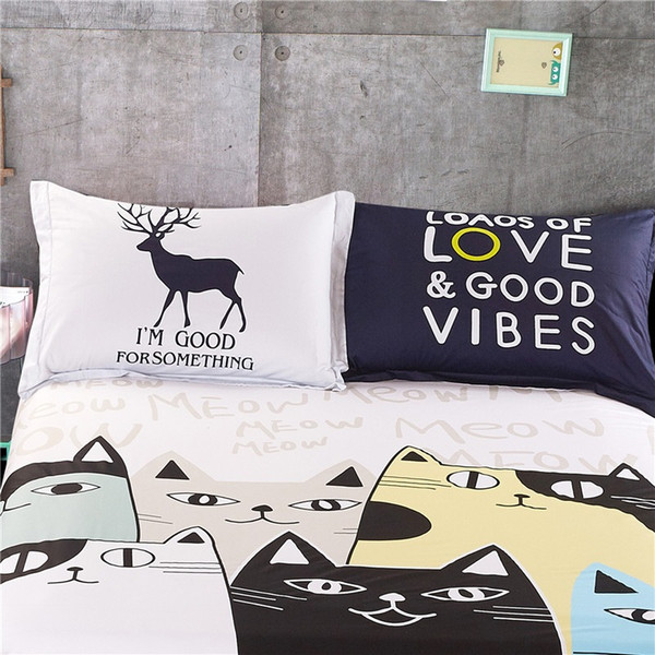 Großhandel 2 Stück Home Bettwäsche Kissenbezug Schein Paar Cartoon