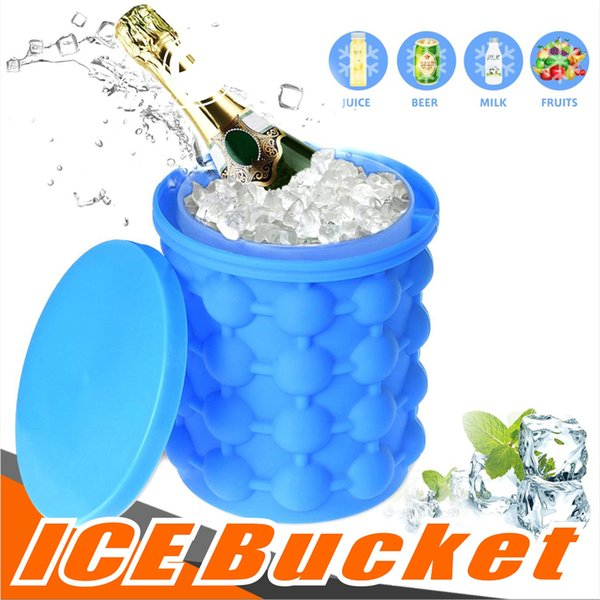 Saving Ice Cube Maker The Revolutionary Space Silicone Ice Cooler Irlde0 Genie Kitchen Tools Ice Buckets Outdoor Games with opp package
