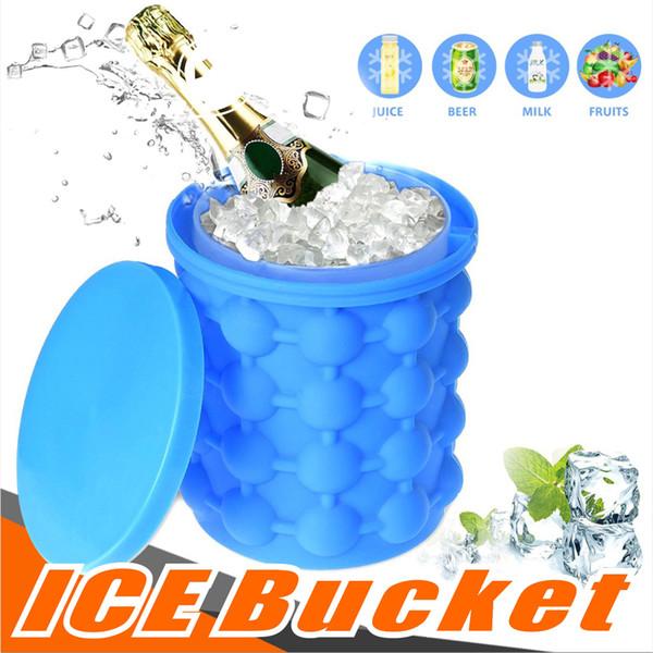 Risparmio Ice Cube Maker Lo spazio rivoluzionario Silicone Ice Cooler Irlde0 Genie Utensili da cucina Ice Benne Giochi all'aperto con pacchetto OPP