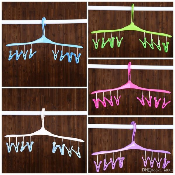Plastic Clothes Rack Removable 360 Degree Hook Design Hangers Wet And Dry Windproof Coat Hanger Hot Sale 2 1ld BB
