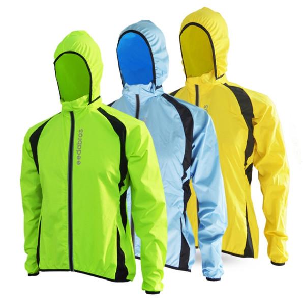 Wholesale- 2017 Breathable Windproof Running Jacket Cycling Raincoat Bicycle Rain Coat Bike Mens Women Cycling Windbreaker Jerseys