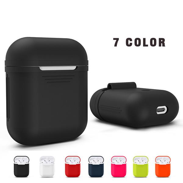Kablosuz Bluetooth Kulaklık Kulaklık Silikon Kılıf Apple iphone 7 Airpods Koruyucu Durumlarda Su Geçirmez damla koruma kapak karıştırılabilir