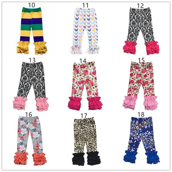 2019 Outono Inverno Crianças Leggings boutique infantil Natal Halloween meninas babados calças bebê Crianças Calças de algodão criança leggings de gelo