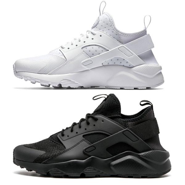 4971cae32 Compre 2018 Huarache Run Zapatos Triple Blanco Negro Hombres Mujeres  Zapatos Para Correr Rojo Gris Huaraches Sport Zapato Hombres Mujeres  Zapatillas ...