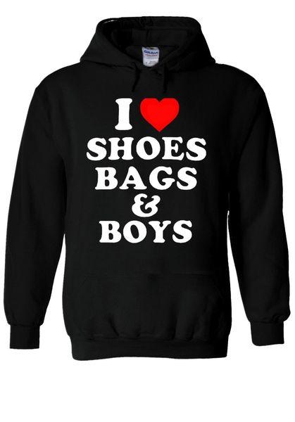 I Love Shoes Bags & And Boys Funn Hoodie Sweatshirt Jumper Men Women Unisex 1812