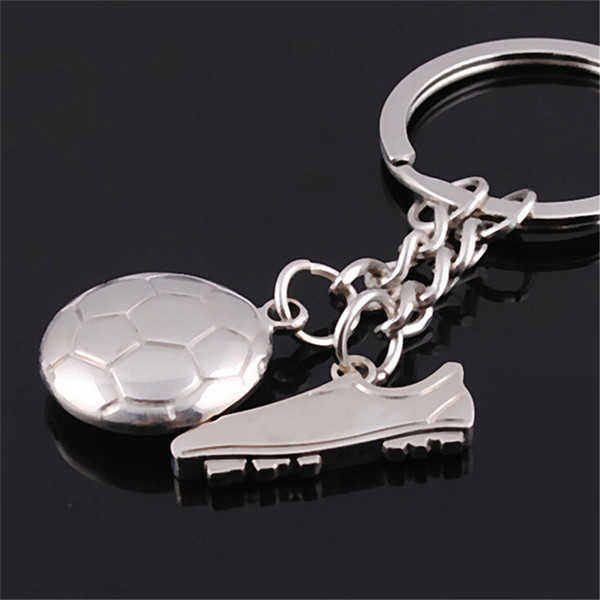 World Cup Football Soccer Shoes Metal Keychains For Car Purse Wallet Bag Buckle Pendant Keyrings Key Chains Women Men Fans Ornaments Gift