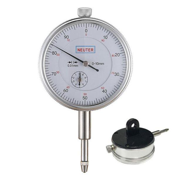 best selling FJS 0-10 0.01mm Dial Indicator With Lug Back Precision Measurement Gauge Micrometer Measuring Tools