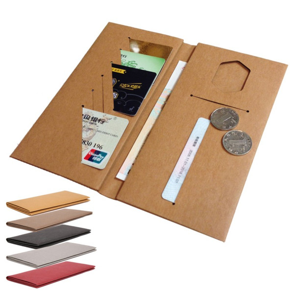 washable kraft paper wallet eco freindly recycle notecase case burse change pouch card holder accept OEM order