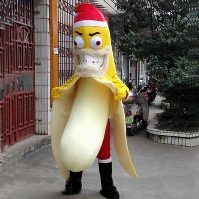 Venta caliente 2018 Rapid Make Six style EVA Material banana Mascot Costume Fruit Cartoon Apparel Halloween Birthday