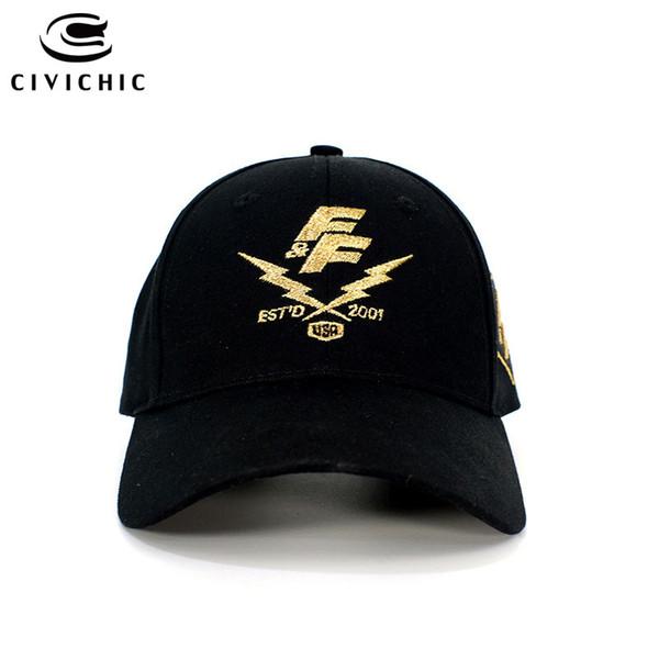 CIVICHIC Nova Moda Rápida Furioso 8 Boné de Beisebol Elegante Bordado Hat Man Mulher Ao Ar Livre Headwear Tampas Ocasionais Ajustáveis HT108
