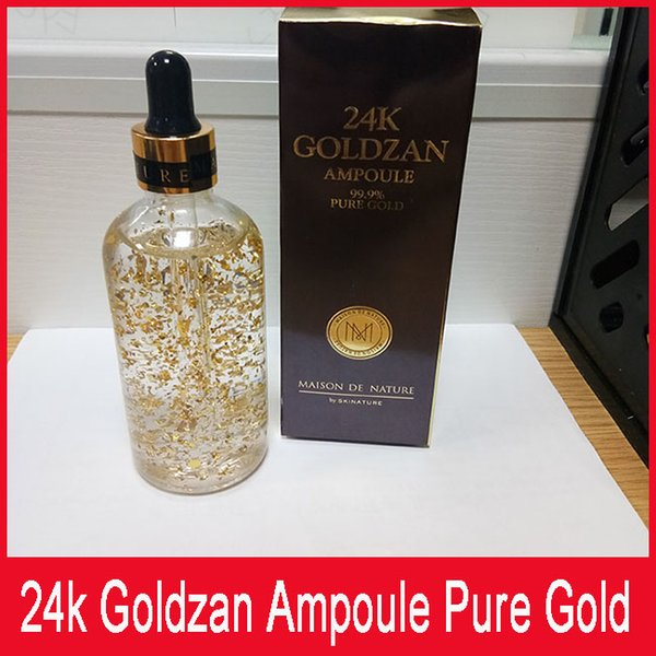 Skinature 24k Goldzan Ampoule 24 K Face Cream Skin Enhancing Essence Oils Primer Face Skin Care free shipping 711