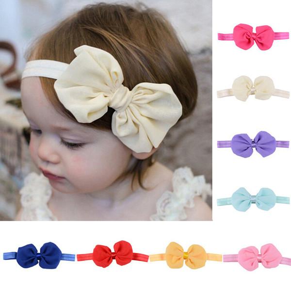 Newborn children's headwear bowknot Elastic Headband Children Hair Accessories Kids Cute Hairbands for Girls Bow Headwear Headdress LC831