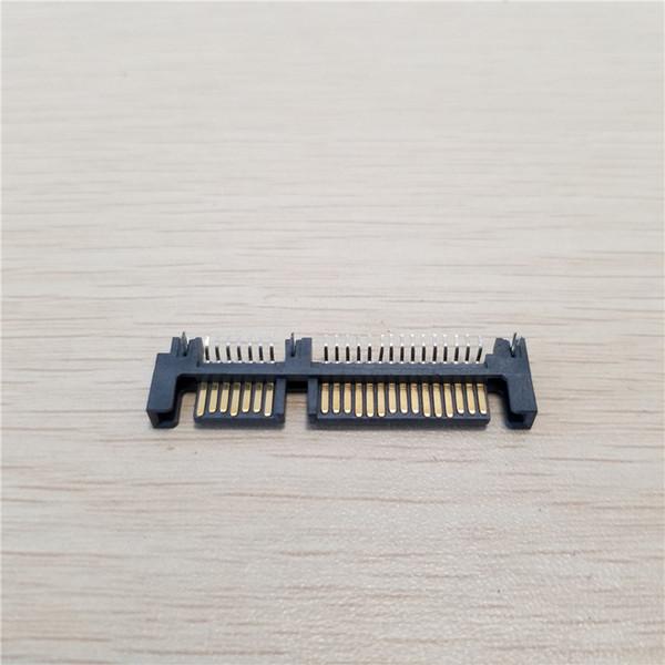 10pcs SATA Hard Drive 90 Degree Interface SMT Connector 7Pin + 15Pin Male Socket 22Pin PCB to Top H : 1.4mm
