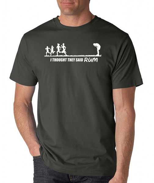 Camisas de Signaturet dos homens que eu pensei que eles disseram rum t-shirt venda quente 100% algodão normal de manga curta de algodão top tee