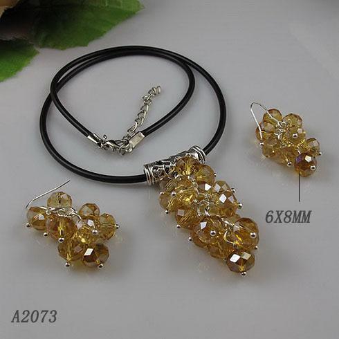Única loja de jóias de pérolas, contas de cristal de ouro preto colar de uva 925 brincos de prata, perfeito para presente de mulher