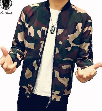 2018 autumn mans fashion Jacket Men Casual loose streetwear zipper Mens jackets Sportswear Water wash Teenage jacket