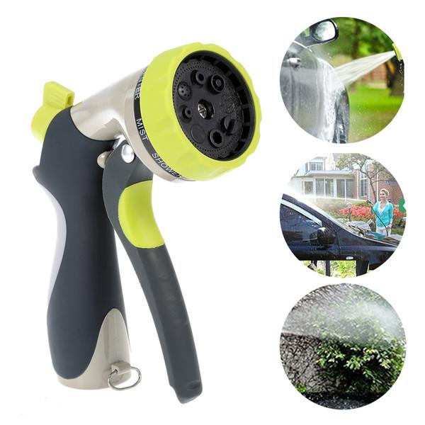 8 Function Garden Hose Nozzle Hand Sprayer Car Washing Garden Water Adjustable Adaptor Watering Spray Flowers Gardening Washing