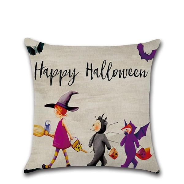 Halloween decoration Pillow Case Cushion Cover Pumpkin Little Witches Pillow Case Sofa CoverBedroom Cushion Cover Home Decorative Pillowcas