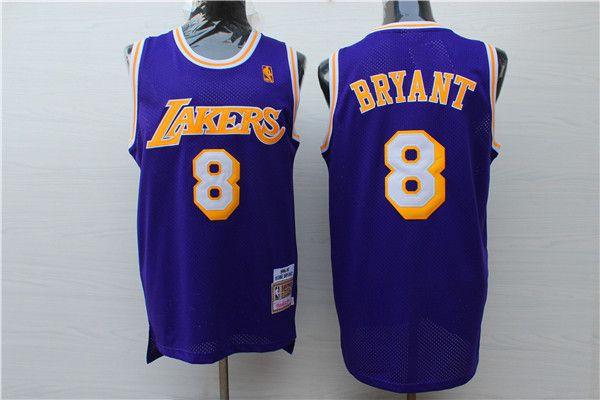 4b2cab9ee3e 2019 New Retro Mens Mitchell   Ness Basketball Jerseys Stitched Classic  Mesh Hardwood 8 Kobe Bryant