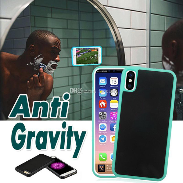Anti Gravity Nano magique aspiration magique collant couverture Hard Case pour iPhone 11 Pro Max XS XR X 8 7 6 6S plus Samsung Note 10 10+ 9 E S10 S9 S8