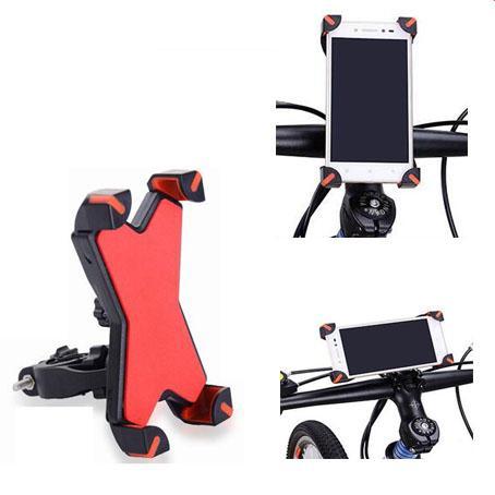 Supporto universale del telefono del supporto del supporto del manubrio del motociclo della bicicletta della bici con la banda di sostegno del silicone per Iphone 6 7 più Samsung s7 s8 Note8